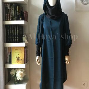 Tunique de jilbab avec hijab intégré