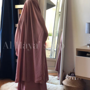 Jilbab 2 pièces jupe fillette manches lycra