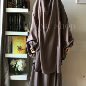 Jilbab 2 pièces jupe manches coton