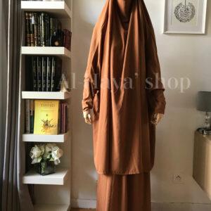 Jilbab 2 pièces jupe manches lycra